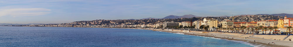 Promenade Nice Panorama Stock Photography