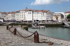 Promenade in the old town of La Rochelle Stock Photography