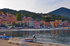 Promenade in one of the towns of the island of Elba Stock Photography