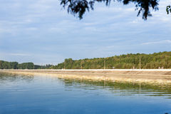 Promenade op het meer Royalty-vrije Stock Foto's
