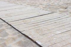 Promenade op het strand stock foto's