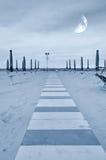 Promenade op het zand Royalty-vrije Stock Afbeelding