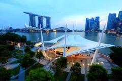 Promenade openluchtstadium Singapore Stock Foto