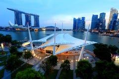 Promenade openluchtstadium Singapore Royalty-vrije Stock Fotografie