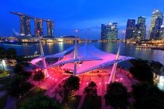 Promenade openluchtstadium Singapore Stock Foto's