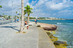 The promenade of Pafos Royalty Free Stock Photography