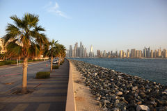 Promenade on Palm Jumeirah Royalty Free Stock Images