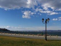 Promenade par la mer Photographie stock