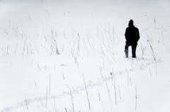 Promenade par la neige Photos libres de droits