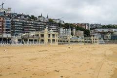 Promenade par San Sebastian ou Donostia dans le pays Basque en Espagne photos stock