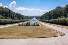 Promenade in the park at Royal Palace of Caserta Royalty Free Stock Photos