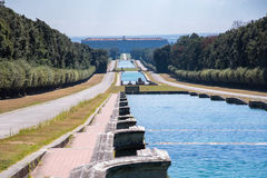 Promenade in the park at Royal Palace of Caserta Royalty Free Stock Photography