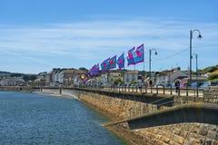 Promenade in Penzance, Cornwall, Vereinigtes Königreich Stockbild
