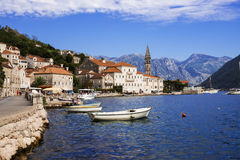 Promenade of Perast, Montenegro Royalty Free Stock Images