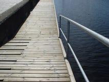 Promenade pier. Pier at the promenade of a marina Royalty Free Stock Images