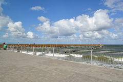 Promenade and pier in the city of Zelenogradsk of the Kaliningrad region Stock Images
