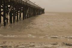 Promenade, plage Calefornia de Goleta Images stock