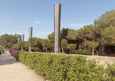 Promenade at Poblenou district Royalty Free Stock Images