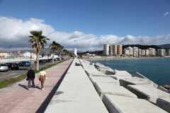 Promenade in Malaga, Spain Royalty Free Stock Image