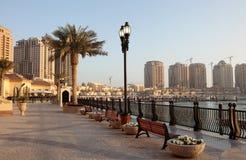 Promenade in Porto Arabië, Doha Royalty-vrije Stock Foto