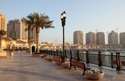 Promenade in Porto Arabia, Doha Royalty Free Stock Photo