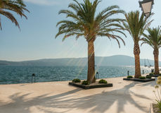 Promenade porto Montenegro. Popular tourist destination Stock Photography