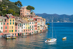 Promenade of Portofino. The promenade of Portofino, a small touristic village near Genoa Royalty Free Stock Images