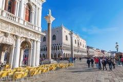 Promenade près de la place du ` s de St Mark à Venise Photos stock