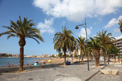 Promenade in Puerto de Mazarron, Spain Royalty Free Stock Image
