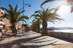 Promenade in Puerto de Mazarron, Spain Stock Images