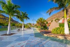 Promenade in Puerto de Mogan Stock Photo