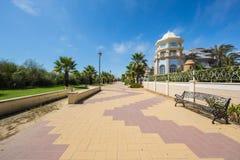 Promenade in Punta DE Moral, Ayamonte, Spanje Stock Afbeeldingen