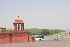 Promenade Rajpath NEW DELHI Royalty-vrije Stock Afbeeldingen