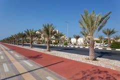 Promenade in Ras Al Khaimah, UAE Royalty Free Stock Photo