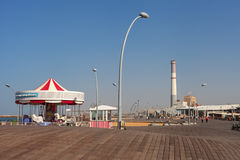 Promenade and reading power station in a Tel Aviv. Stock Photo