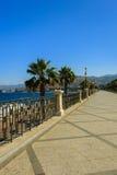 Promenade in Reggio Calabrië Stock Fotografie