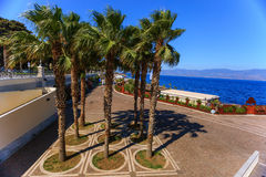Promenade in Reggio Calabria Royalty Free Stock Photo