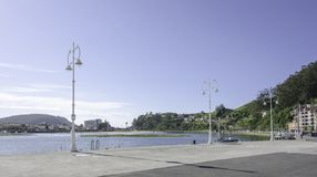 Promenade of Ribadesella Royalty Free Stock Photos