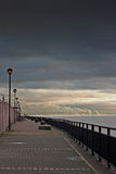 Promenade on the River Mersey, Liverpool, UK. Royalty Free Stock Photos