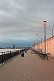 Promenade on the River Mersey, Liverpool, UK. Stock Photo