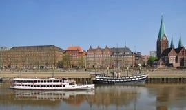 Promenade,River Weser,Bremen,Germany Stock Image