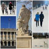 Promenade romantique dans le Tuileries, Paris Photos libres de droits