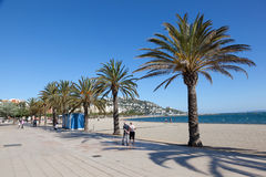 Promenade in Roses, Spain Royalty Free Stock Photos