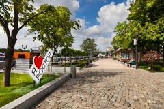 Promenade of Rostov-on-Don, Russia Stock Photography
