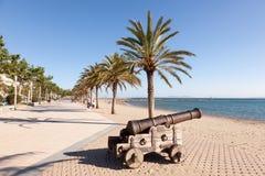 Promenade in Rozen, Spanje stock afbeelding