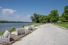 Promenade in Ruse, Bulgarien stockbild