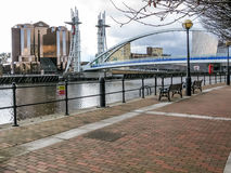 Promenade Salford Quays, Manchester Royalty Free Stock Photo