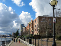 Promenade of Salford Quays, Manchester Stock Photo