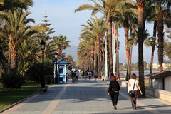 Promenade in San Pedro de Alcantara Royalty Free Stock Photo