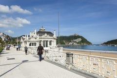 Promenade in San Sebastián, Spanien Lizenzfreie Stockfotos